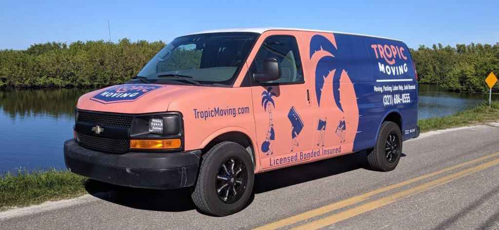 Tropic Moving van on the road