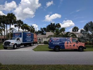 Two trucks used for a house move in Florida