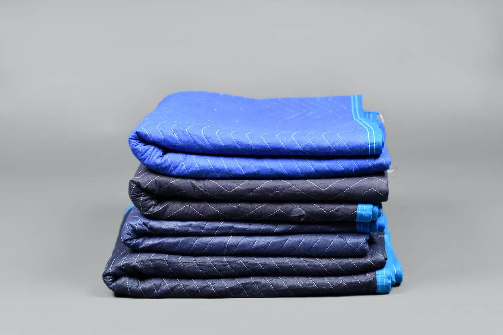 blue furniture padding against a white background