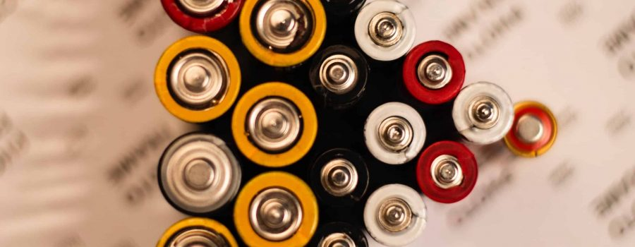 batteries from above standing up