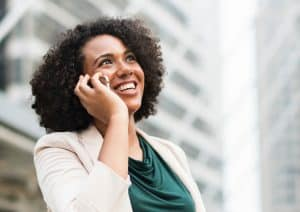 woman calling on phone to schedule